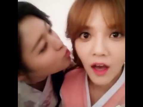 2 Korean girls kissing
