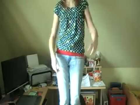 Funny Girl On Webcam Dance
